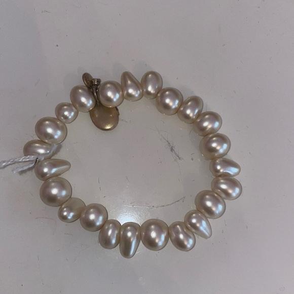 Jcrew pearl bracelet with gold